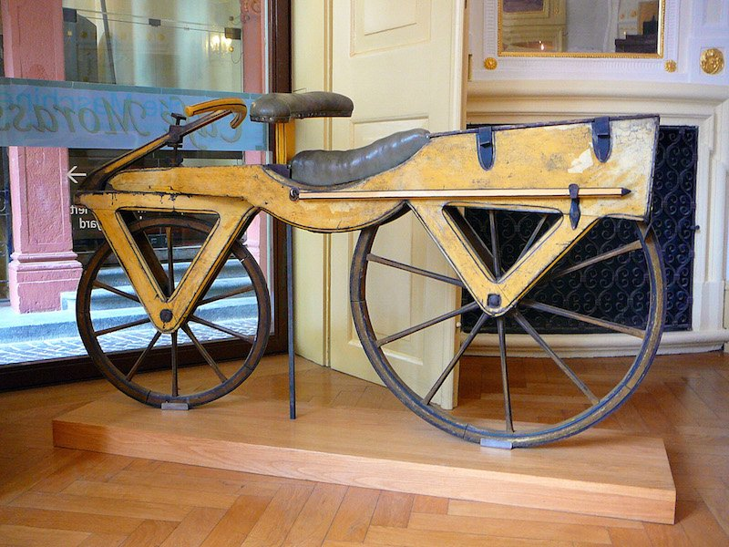 4. Wooden Draisine Bicycle