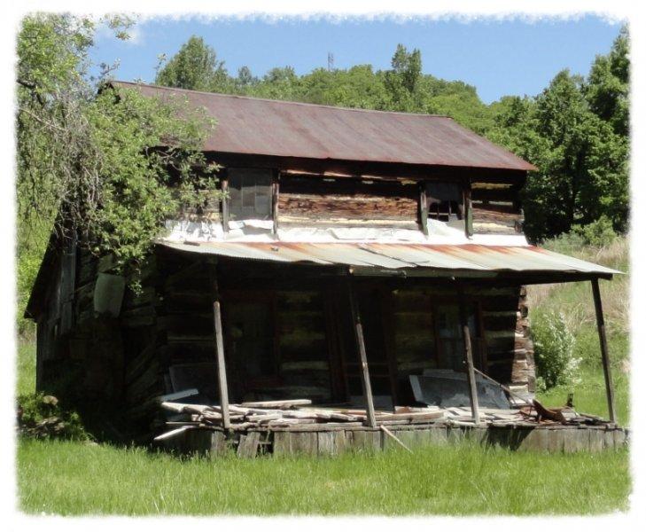 log-cabin Shadowed Porch