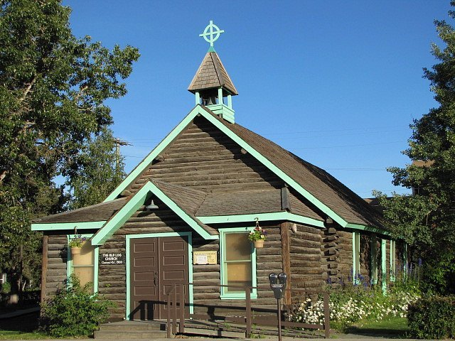The Old Log Church of the Yukon