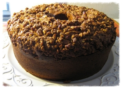 Sweet Potato Pound Cake With Orange Rum Glaze