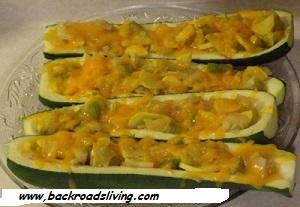 Garden Fresh Zucchini Boats