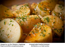 Oven Roasted Potatoes Garlic Herb