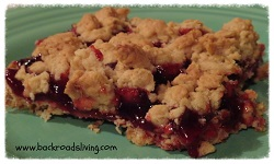 Raspberry Bars Crumbles