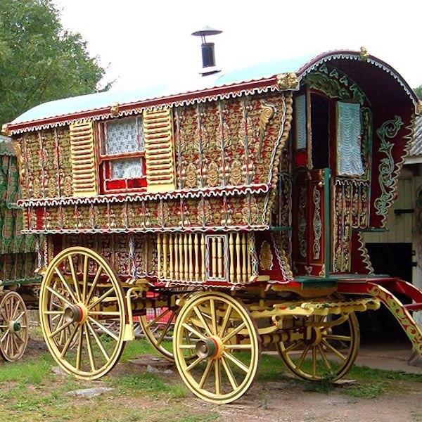 No 6 English Caravan Gypsy Wagon