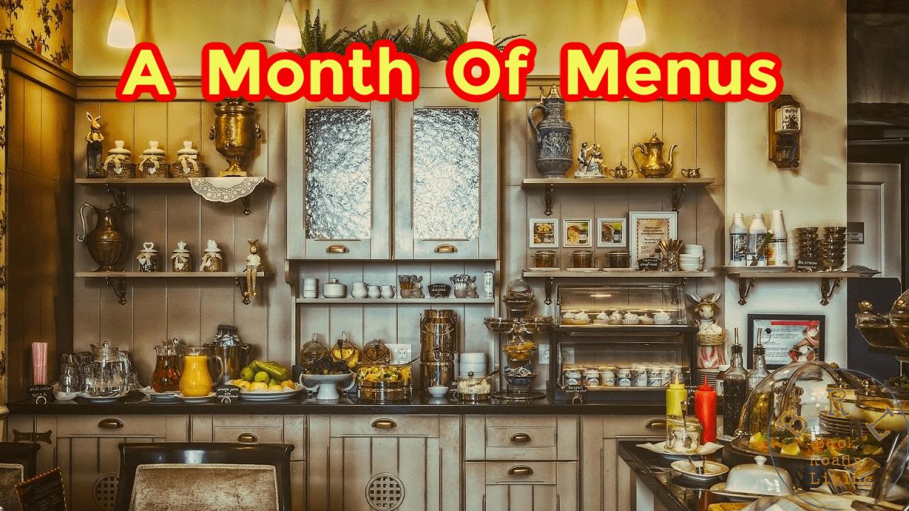 eight week menu list