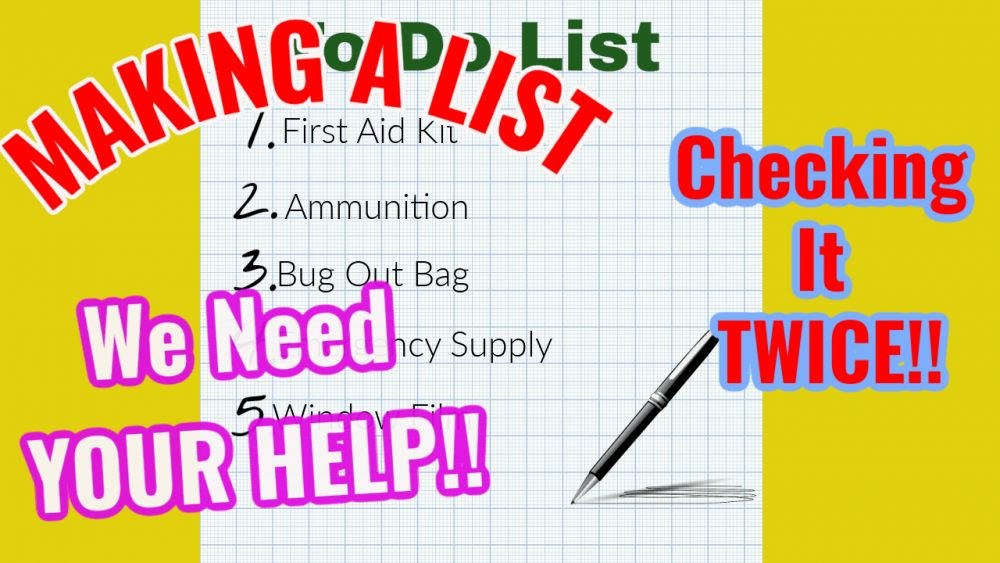 The Preppers Home Check List