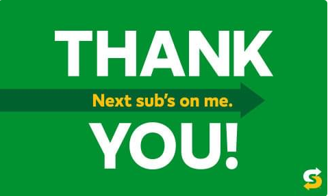 free subway gift card giveaway